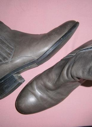 Скидка! кожаные ботинки челси