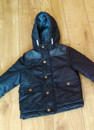 Куртка парка демисезонная для мальчика urban rascals на 3 года рост 98 см