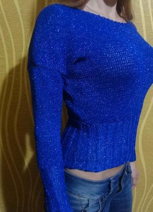 Вязаный свитер с люрексом