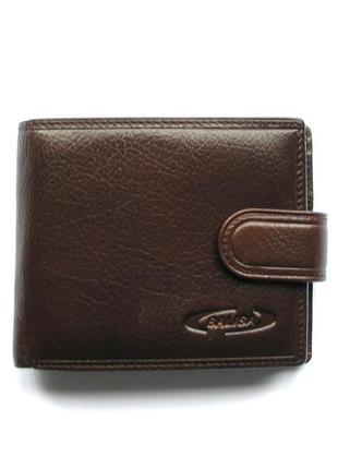 Коричневый кожаный кошелек бумажник портмоне, 100% натуральная кожа, доставка бесплатно