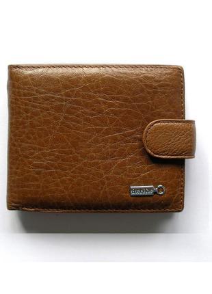Рыжий кожаный кошелек бумажник портмоне, 100% натуральная кожа, доставка бесплатно