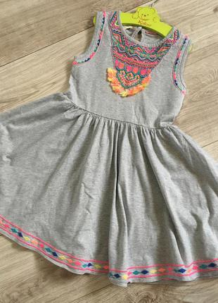 Красивое натуральное платье сарафан от бренда   monsoon