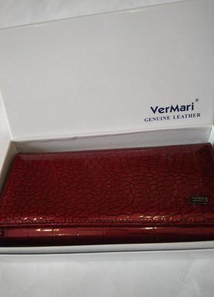 Женский кожаный лаковый кошелек ver mari