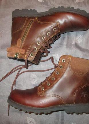 Кожаные ботинки timberland оригинал р. 37