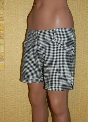 Шорты женские черно-белые в клетку на липучке р. 42-44 always jeans2