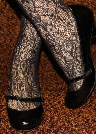 Черные лаковые туфли marks & spencer