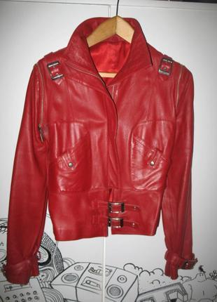 Оригнальная кожаная куртка-трансформер.