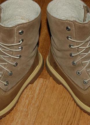 Кожаные утеплённые ботинки 37 р timberland waterproof