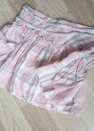 Летняя пышная мини юбка хлопок
