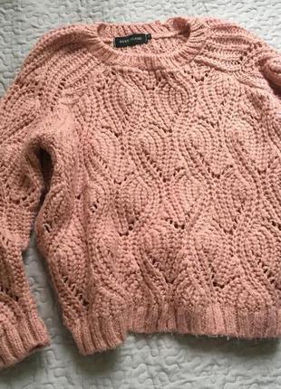 Пудровый,вязаный свитер river island