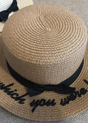 Новая пляжная шляпа! канотье! хит 2018