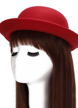 Шляпа шляпка котелок дерби красная и другие цвета