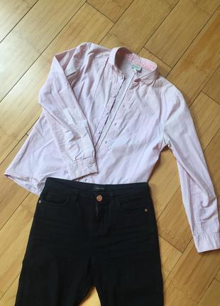 Рубашка розовая, актуальная, базовая