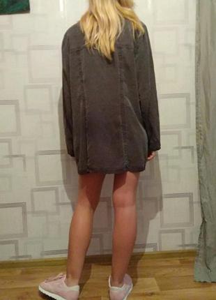 Длинная рубашка платье  весна тренд оверсайз