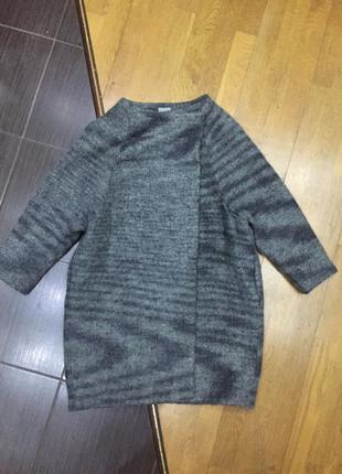 Шерстяное модное пальто кокон cos