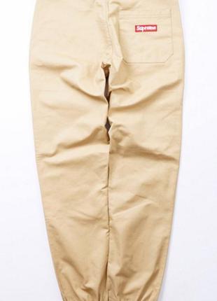 ... Supreme jogger pants цвет бежевый карго джогеры штаны брюки джоггеры  чиносы2 ... f02b5cd2398eb
