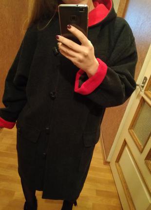 Шерстяное весеннее демисезонное пальто