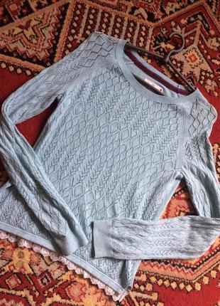 Кружевной свитер h&m