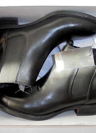 Новые кожаные челси ботинки ботиночки резинки демисезонные кожа esmara