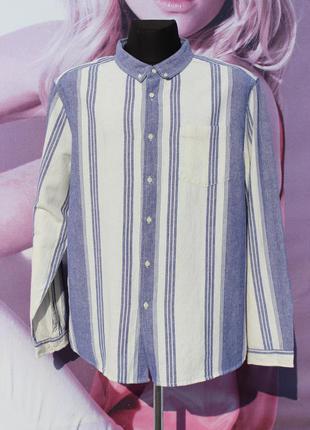 Мужская рубашка большого размера с длинным рукавом asos xxxl