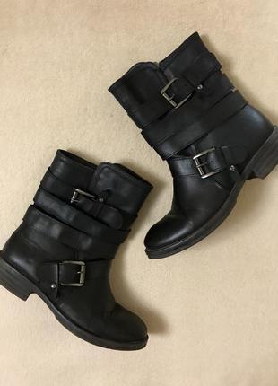 Удобные кожаные ботинки (димесезонные)