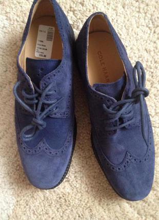 Замшевые туфли от cole haan (nike air technology)