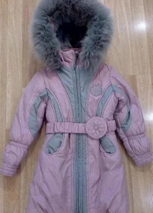 Пальто куртка для девочки фирмы kiko (6-7 лет)