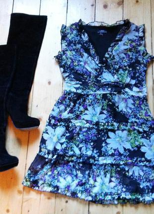 Легкое яркое платье в цветы h&m