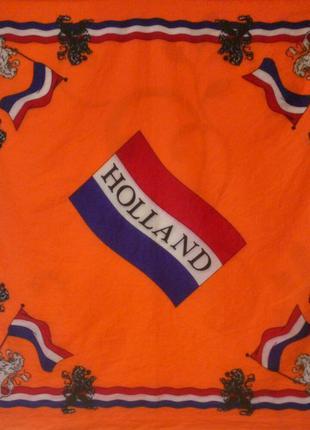 100% хлопок . бандана болельщика сборной голландии косынка платок хустка .
