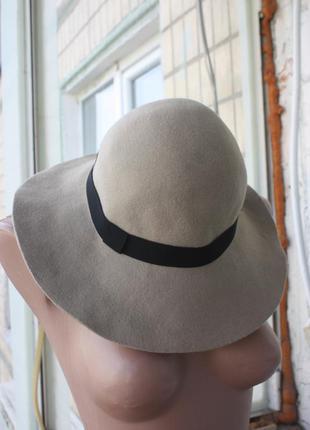 Шляпа с широкими полями шерсть 100%  от accessorize