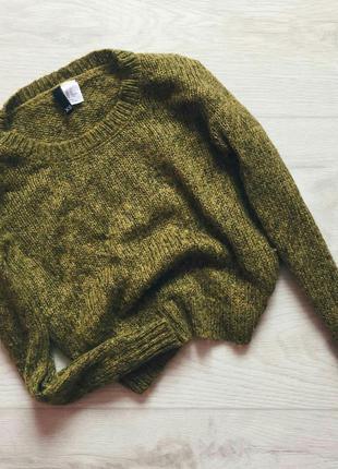 Кроп-свитер h&m