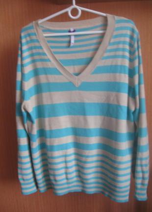 Кофта свитер джемпер полосатый брендовый