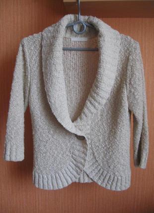 Кардиган кофта свитер короткий вязаный брендовый