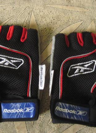 Спортивные перчатки без пальц. xlр. reebok