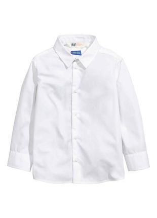 Новая детская белая рубашка h&m для мальчика
