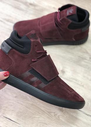 Мужские высокие демисезонные кроссовки на липучке adidas