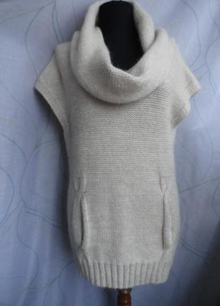 Теплая вязаная туника - жилетка mint velvet