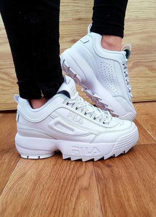 Fila disruptor 2 full white кроссовки белые 36 37 38 39 40 размер