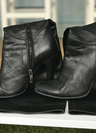 Кожаные сапоги с мягкой голенью
