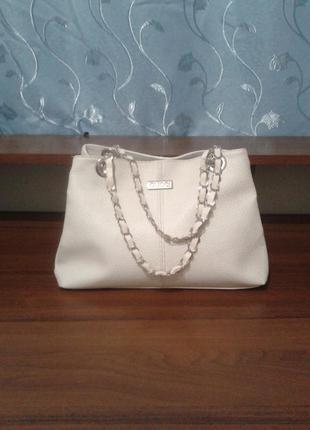 Белая сумка gucci