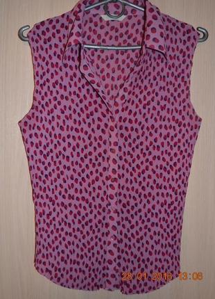 Блуза плиссе на пуговицах marks&spencer