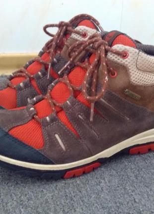 Фирменные ботинки timberland zip trail gore-tex mid brown,38р, оригинал