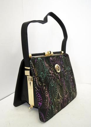 Farfalla rosso. стильная сумка ридикюль. тиснение орнамен. новая