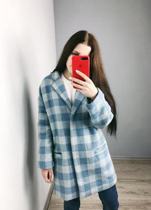 💎офигенное клетчатое бойфренд пальто atmosphere