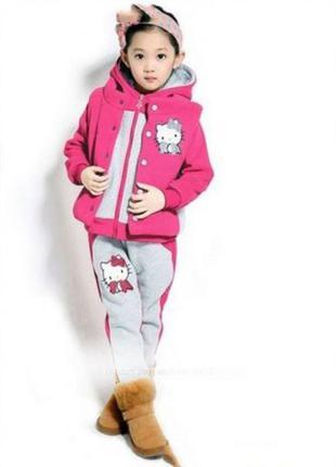 #теплый #зимний #костюм #спортивный #повседневный #девочка #брюки #штаны 140-150 cм