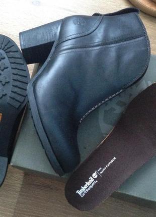Две пары !кожаные ботинки timberland . ботильоны кожа