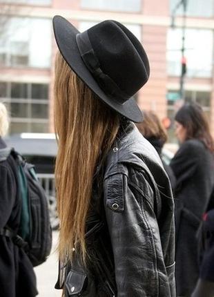 Обнова! шляпа фетр шерсть черная новая