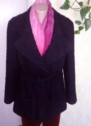Отличное шерстяное пальто с поясом/плащ/кардиган/тренч/пальто/полупальто