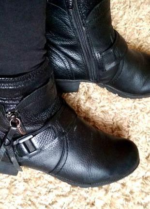 Ботинки сапожки clarks 37 р осінь-весна кожа-шкіра