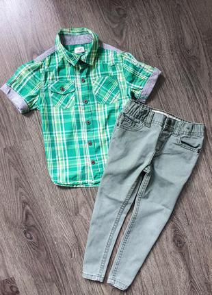 Рубашка f&f + джинсы denim co для стильных парней